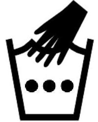 Символ на етикет за ръчно пране (пране на ръка) с вода до 50 градуса