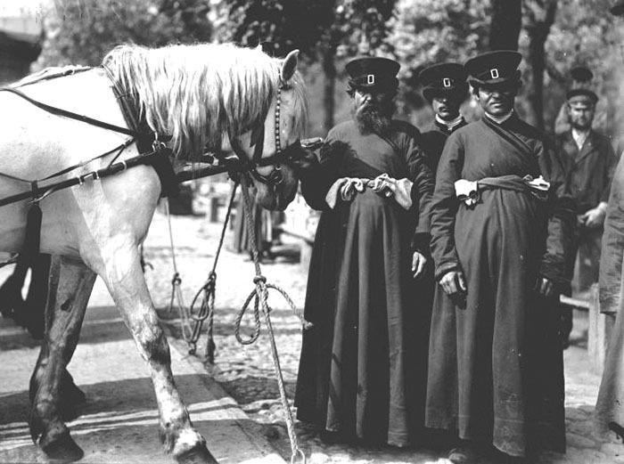 Петербургские извозчики. Фото1899 года