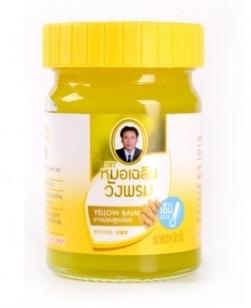 Фитобальзам для тела желтый от мышечной боли WangProm, 50 гр
