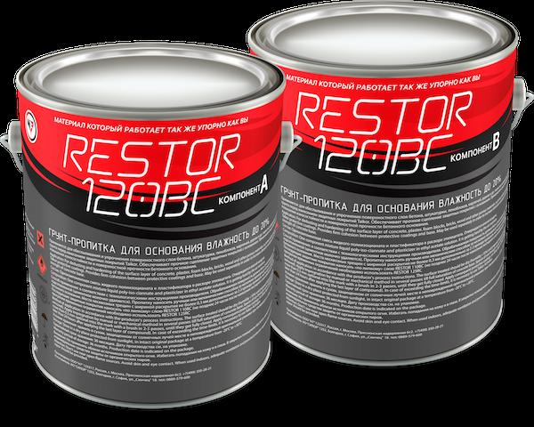 RESTOR 120BC Грунт-пропитка для бетона влажностью до 20%