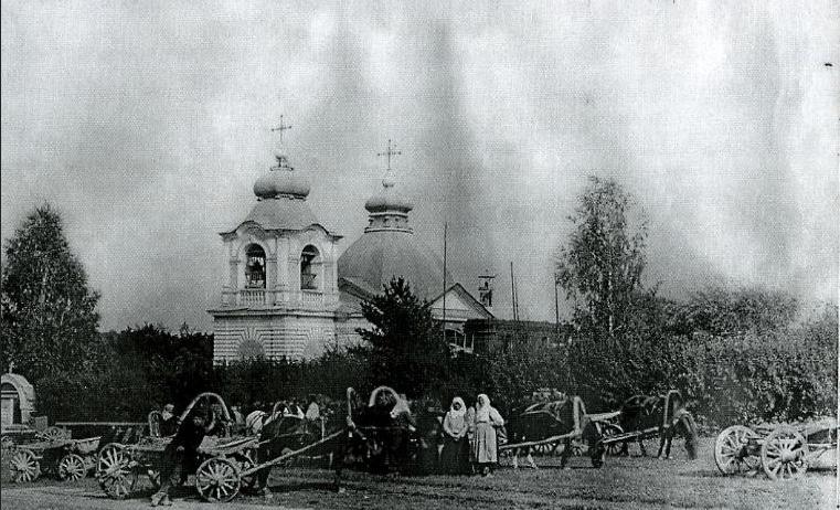 Храм Ильи Пророка в Лемешово. Фото начала ХХ века