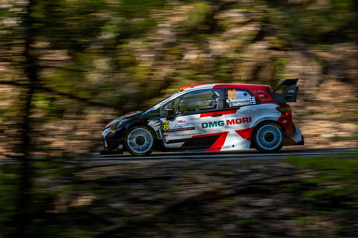 Калле Рованпера и Йонне Халттунен, Toyota Yaris WRC, ралли Хорватия 2021