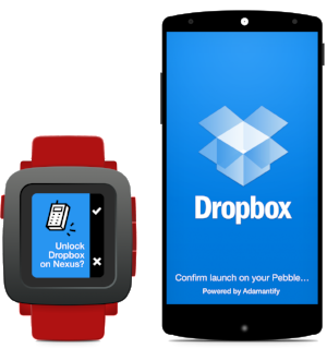 Dropbox powered with Adamantify and Pebble