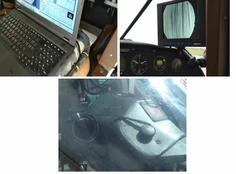 ALMA G4 Laptop with C-Box, pilot monitor, and GPS