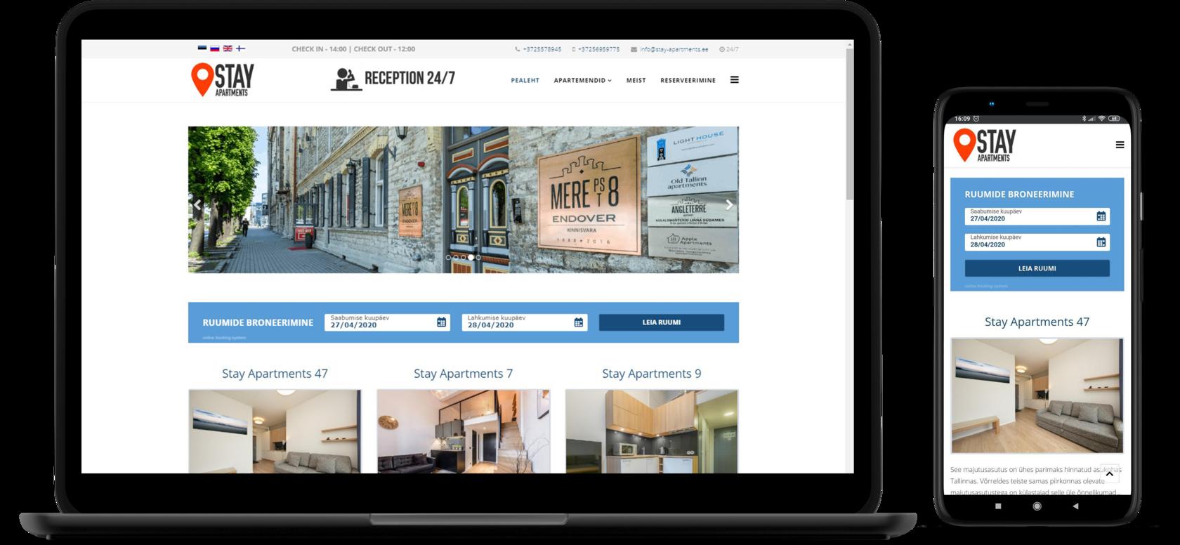 Hotelli Stay-Apartments veebileht
