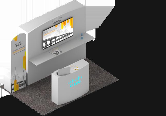 дизайн выставочного стенда Cisco
