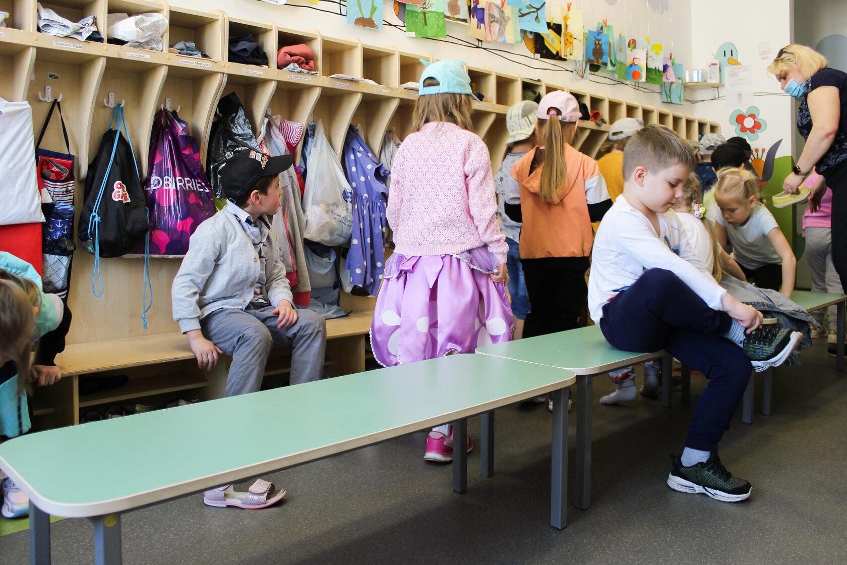 шкафчики в детский сад купить недорого