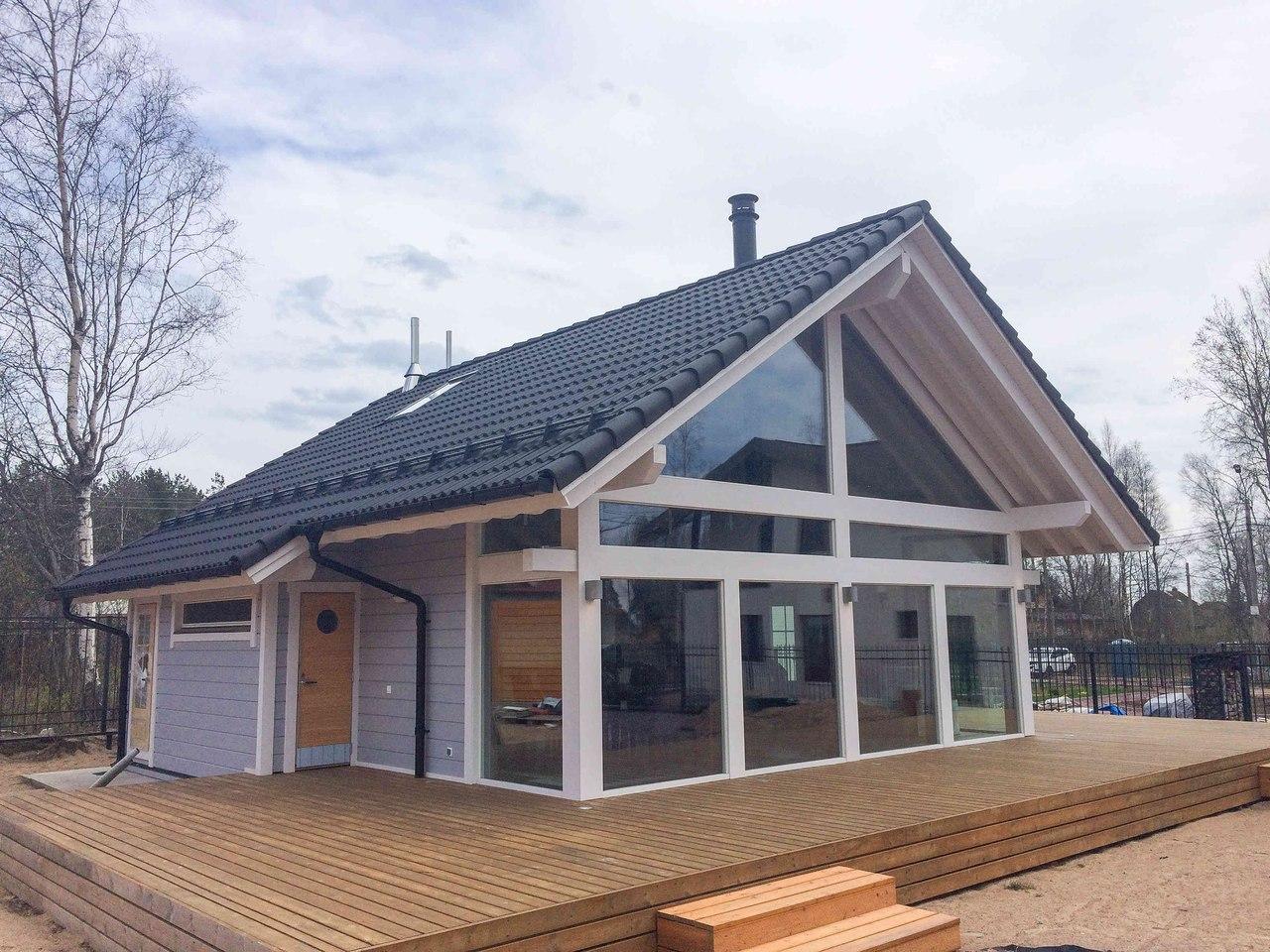 Продажа каркасных домов с понорамными окнами воронеж