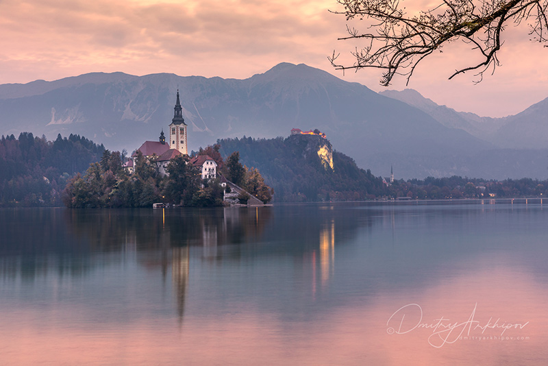 Sunset Bled Lake, Best Photography
