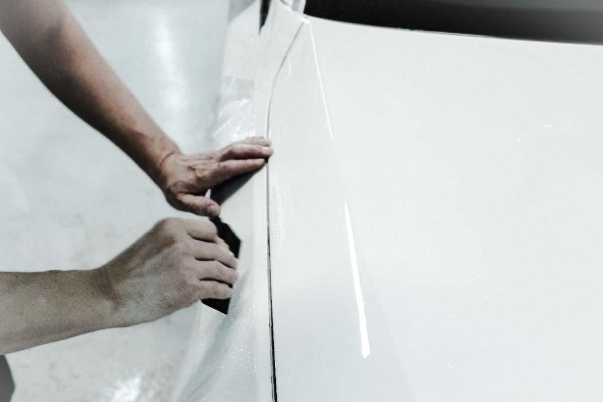 оклейка передней части кузова защитной пленкой от склов и царапин