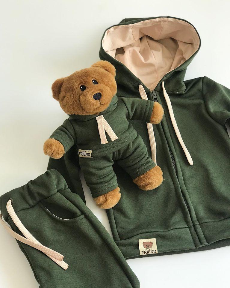 Комплект Lucky Friend - костюмчик на блискавці та ведмедик Лакі