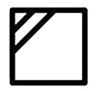 Знак на етикет на дреха, който означава да се суши на сянка