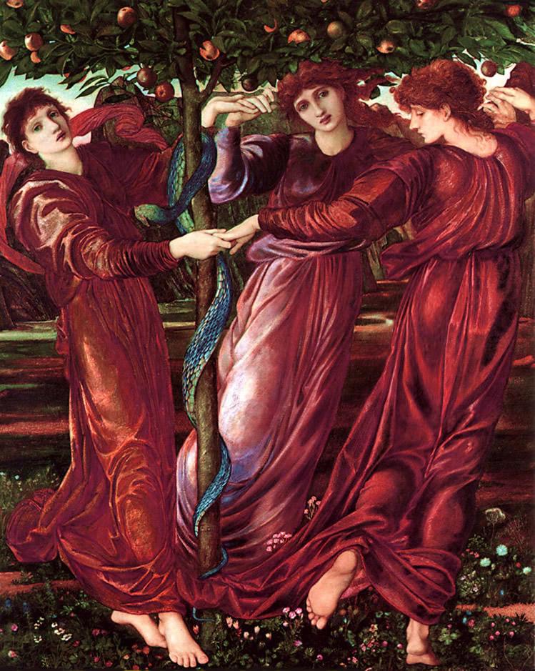'The Garden of The Hesperides' (1869-73, Kunsthalle Hamburg) by Burne-Jones