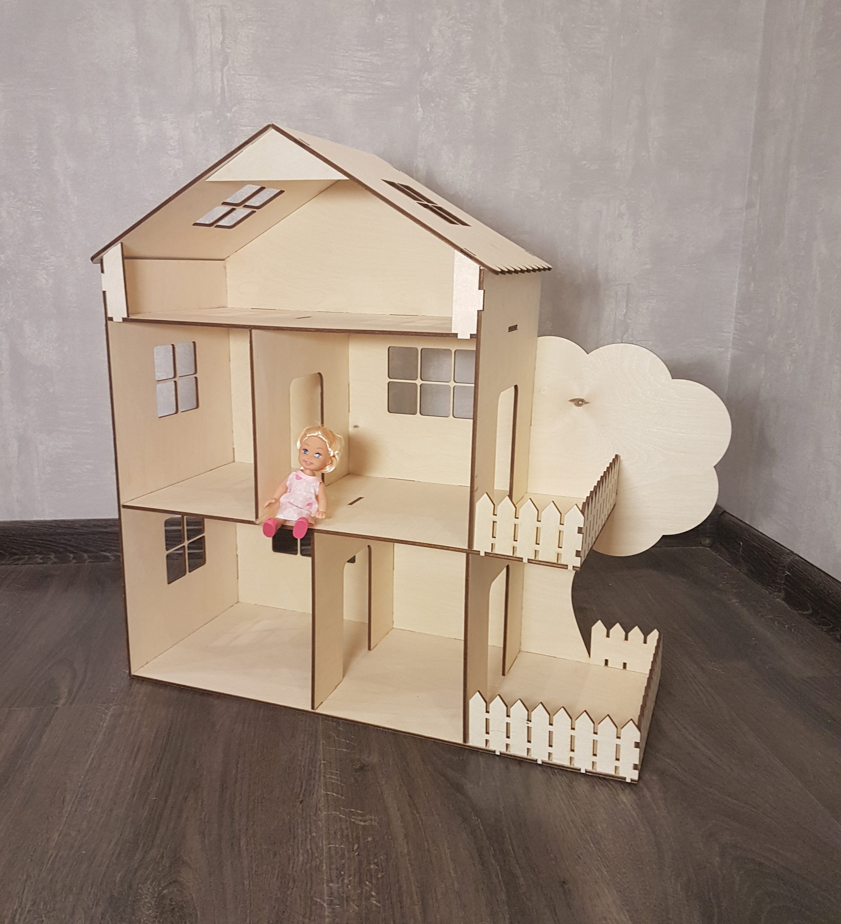 фотографии домика для кукол из фанеры удовольствие получила
