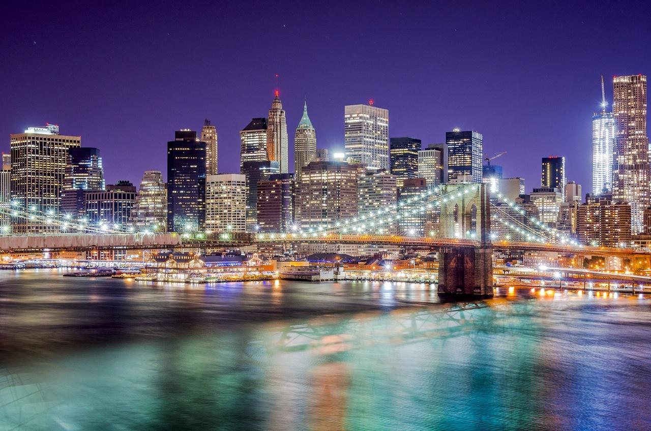 Картинки для фотообоев ночной город