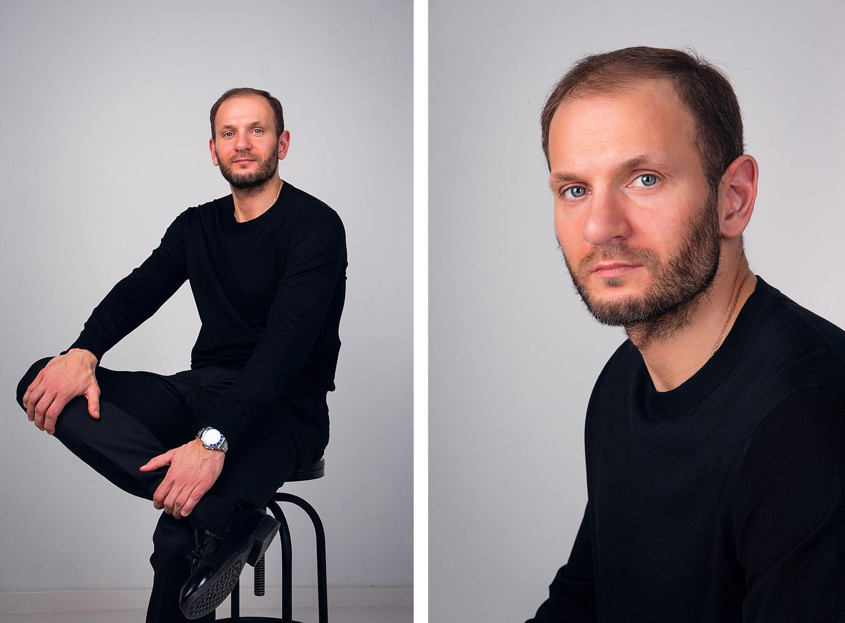 длительное нахождение мужской портрет фотографа с прицелом гильзой миллер