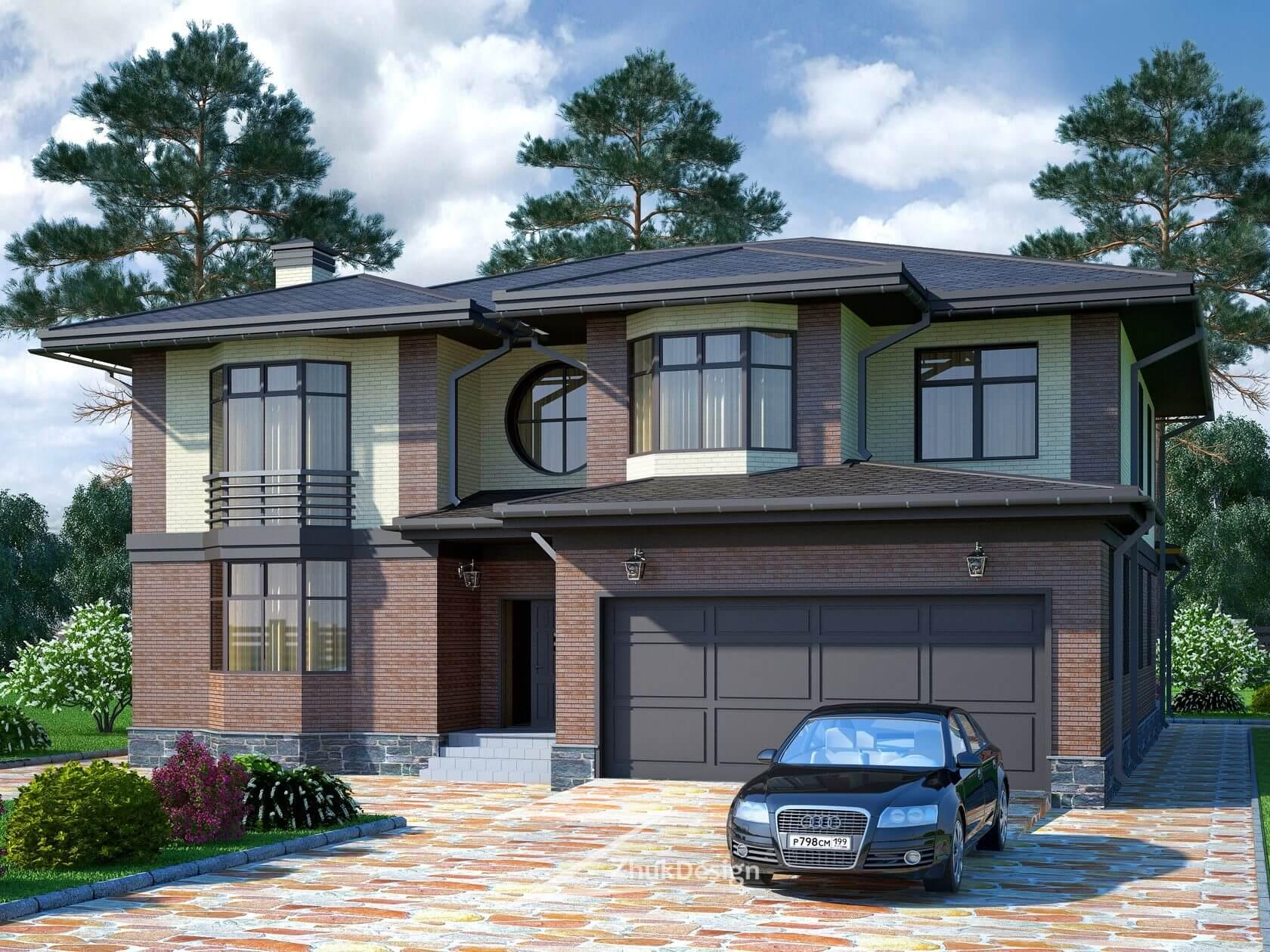 настоящее проекты красивых двухэтажных домов с гаражом фото обыкновенная многолетняя