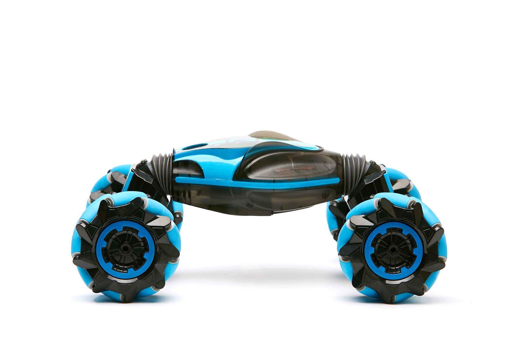 машинка перевертыш weishengda stunt car синего цвета