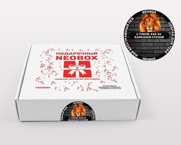 Фирменная коробка NEOBOX с наклейкой