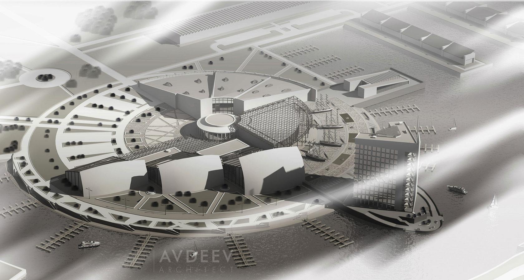 дизайн центра парусного спорта студия AVDEEV ARCHITECT