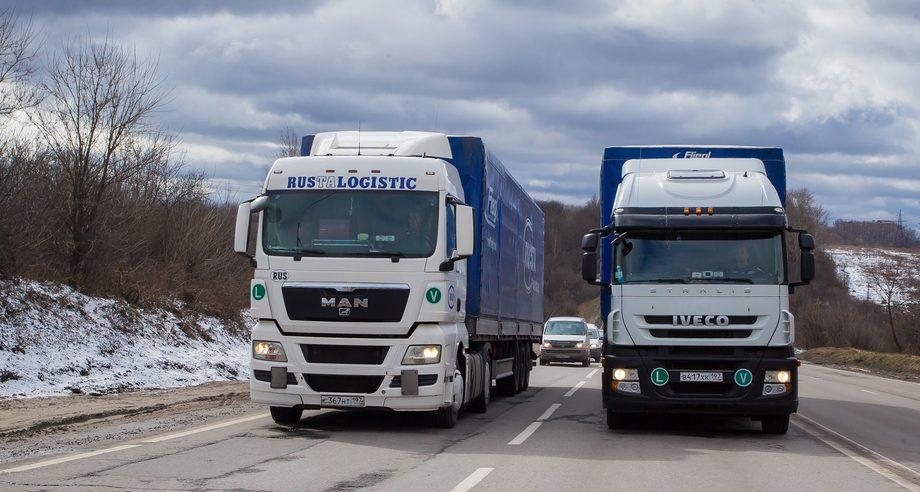 По итогам января темпы роста грузооборота у автотранспорта оказались ниже, чем у других видов транспорта (фото: ГК «Руста»)