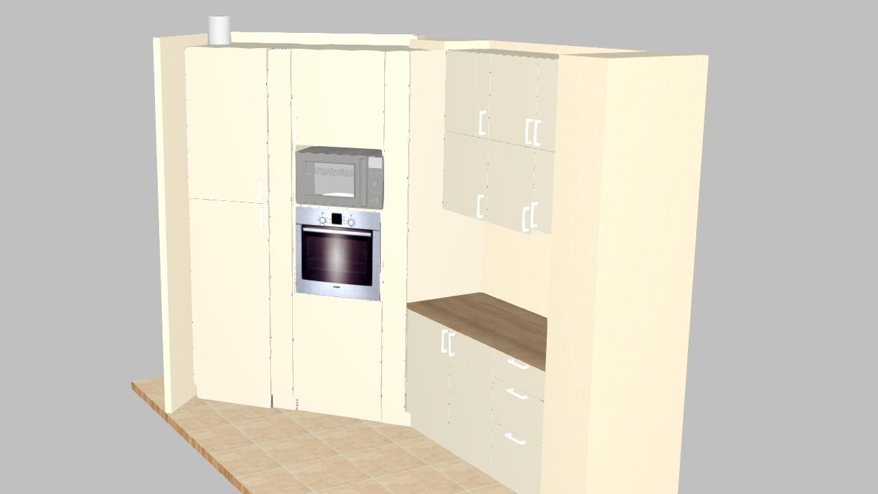 Индивидуален нестандартен проект на кухненски мебели