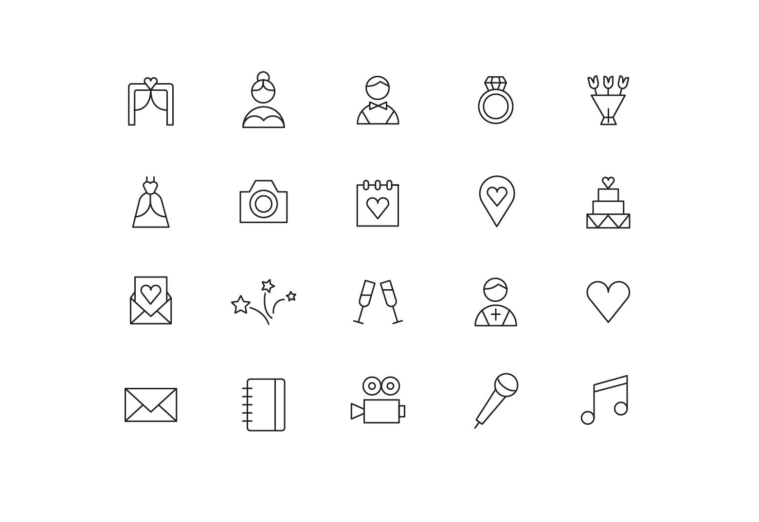 "Icons ""Wedding agency"""