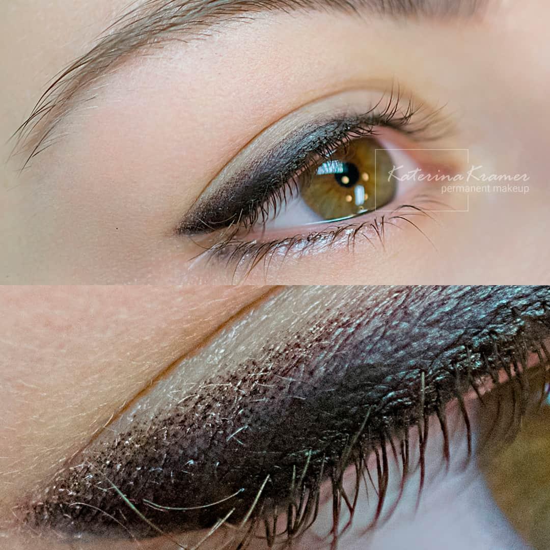 Перманентный макияж век с растушевкой фото - Студия татуажа Катерины Крамер в Санкт-Петербурге