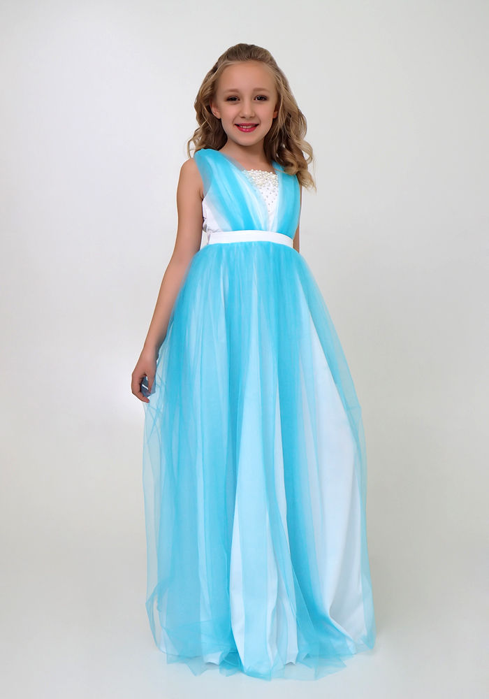 Платья для девочек в пол картинки