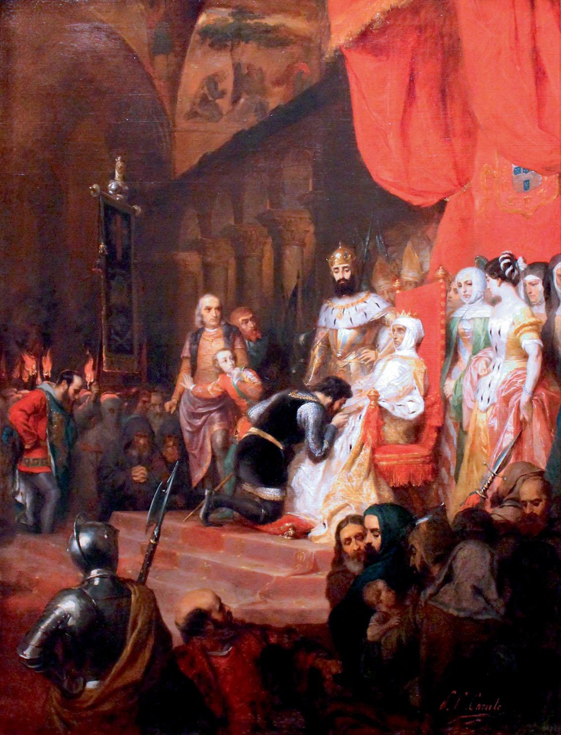 Пьер-Шарль Комт. «Коронация Инес де Кастро в 1361 году». (1849)