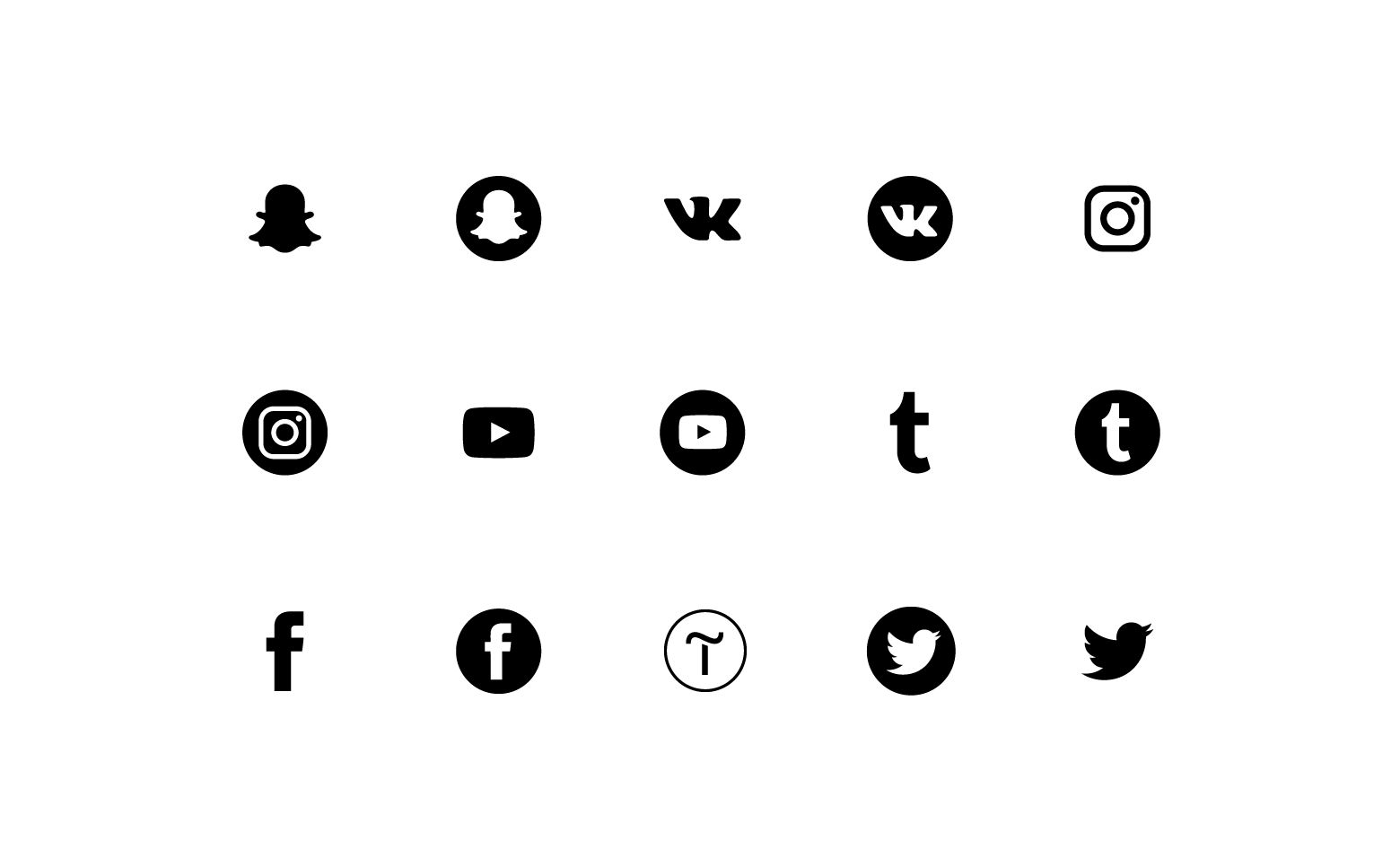 """Icons """"Social networks"""""""
