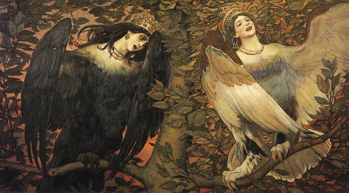 Виктор Васнецов. «Сирин и алконост. Птицы радости и печали» (1896)