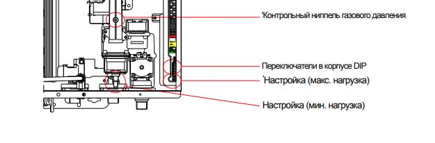 Схема настройки давления газа котла Навьен