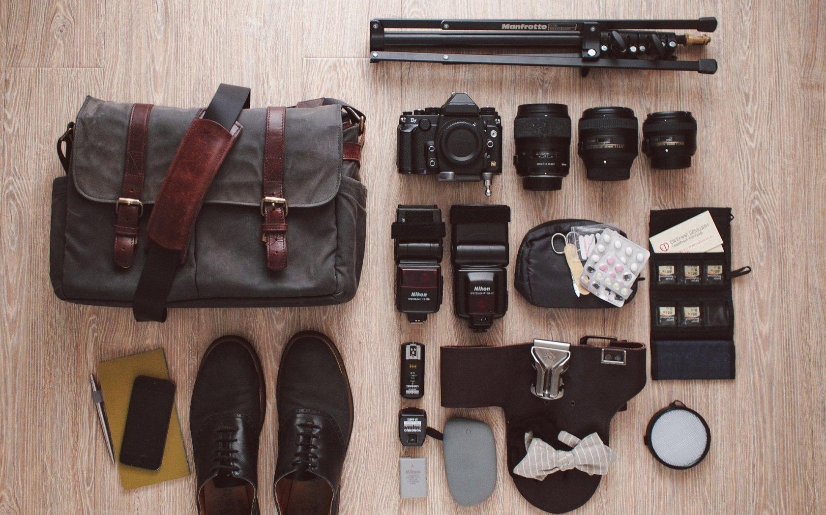 Что у свадебного фотографа в сумке