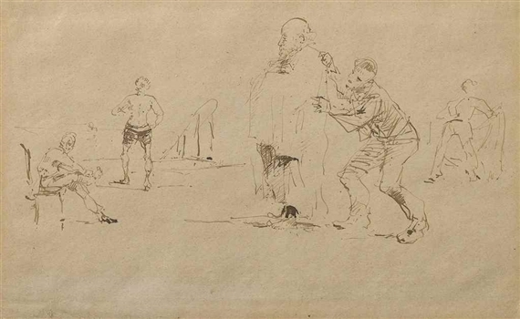 Скейтч Анри Тулуз-Лотрека, 16 лет, 1880 год