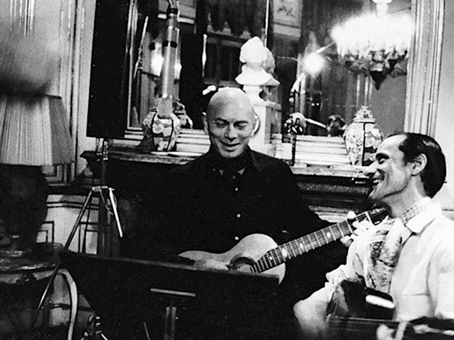 Юл Бриннер и Алеша Димитриевич во время работы над совместной пластинкой