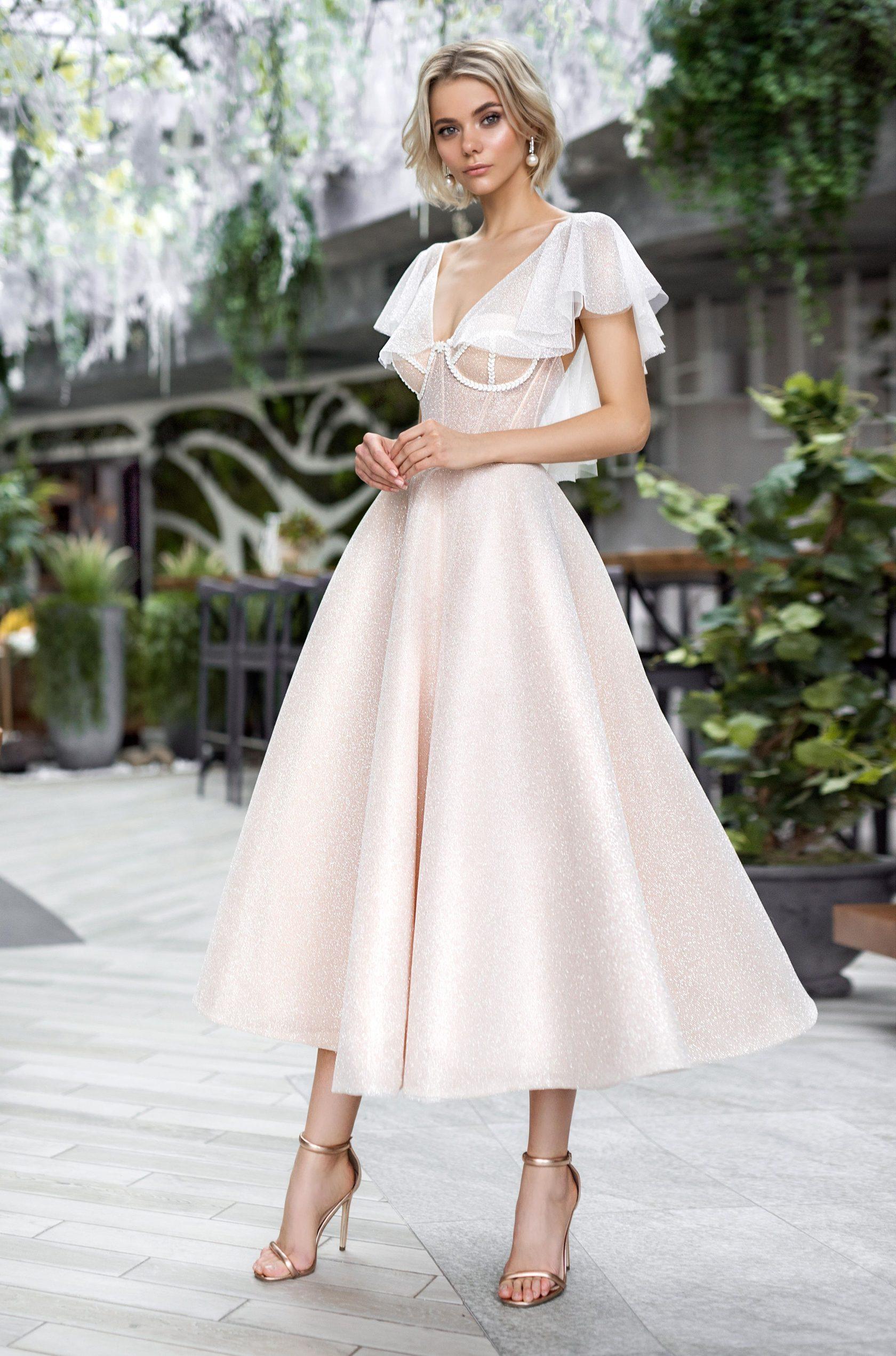 свадебные платья средней длины фото ленинградского