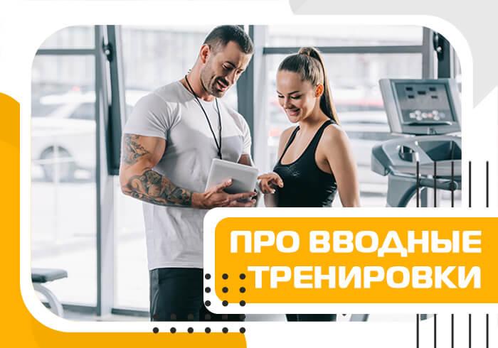 Проведение вводных тренировок фитнес-инструктором