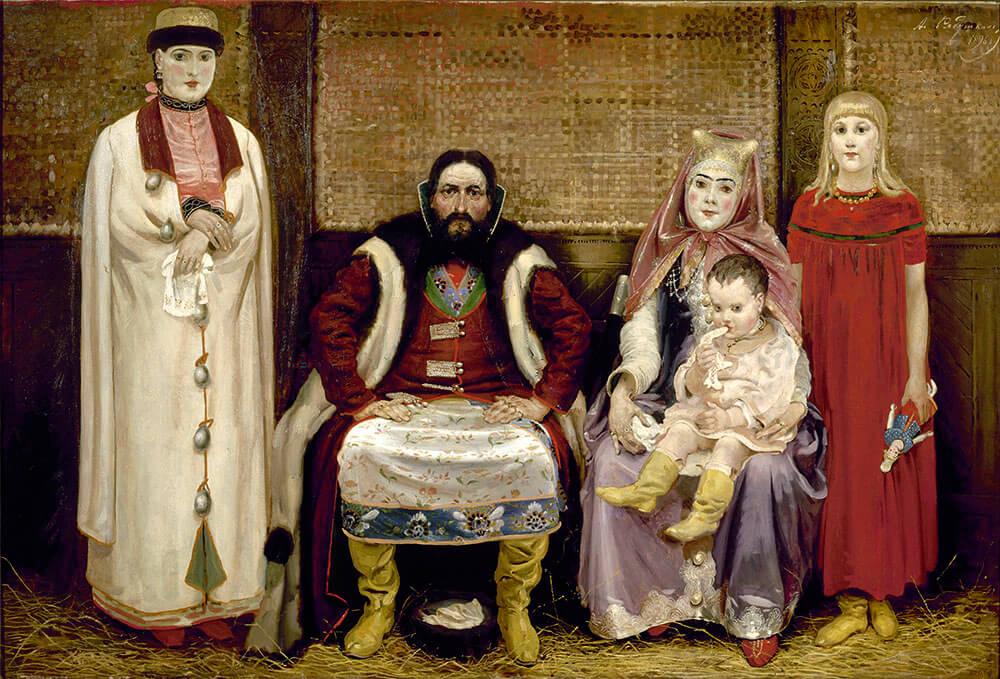 андрей рябушкин «семья купца в XVII веке» (1896).