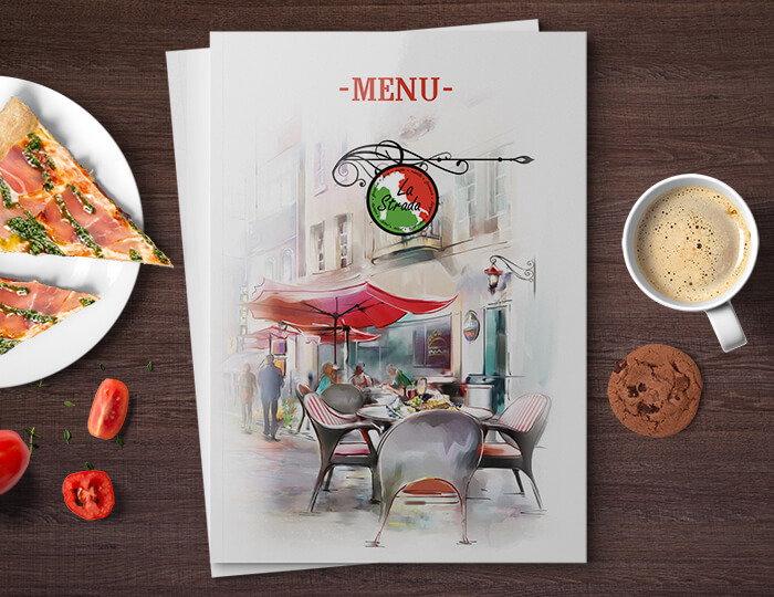 Пример меню ресторана «La Strada»