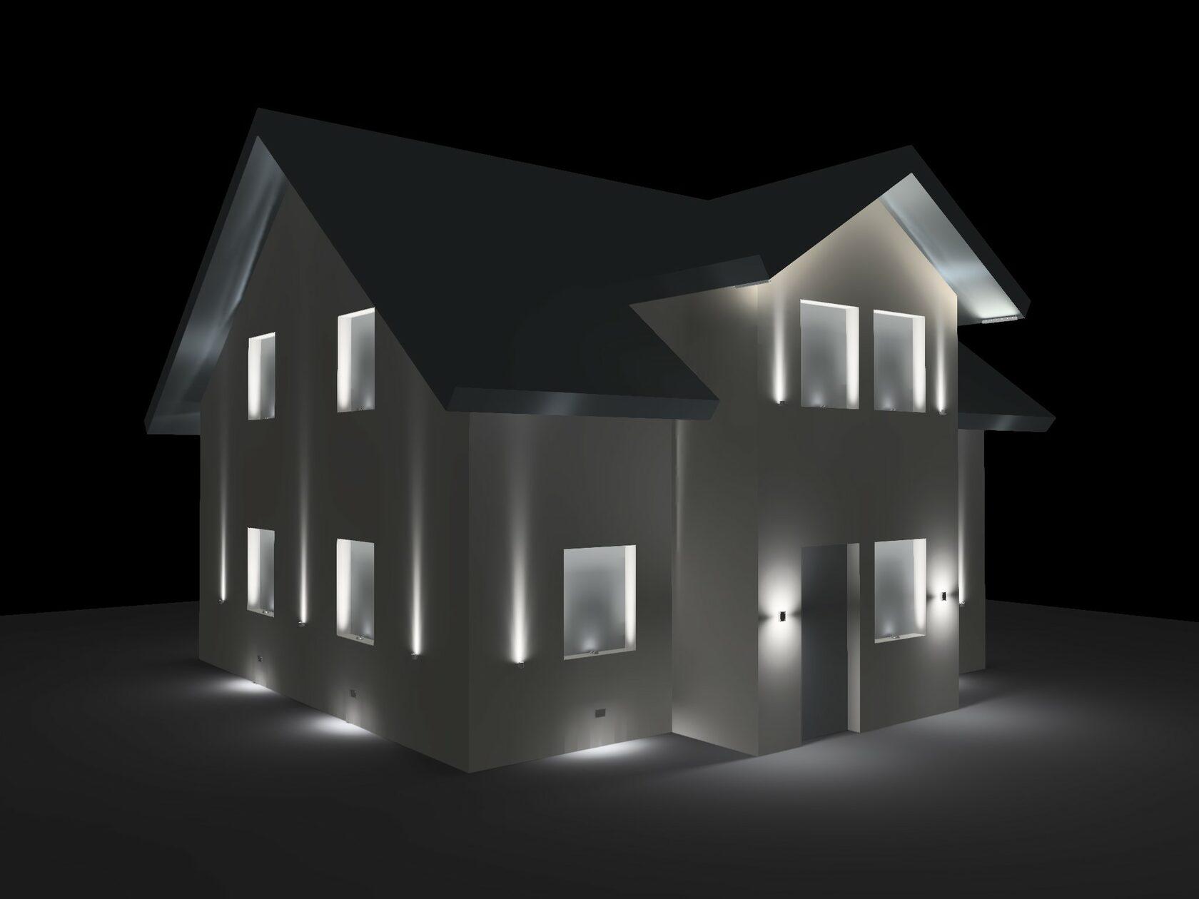 Сцена 1. Все светильники включены