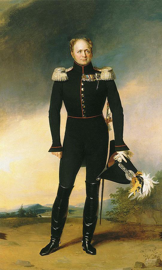 Джордж Доу. «Портрет императора Александра I» (1826)