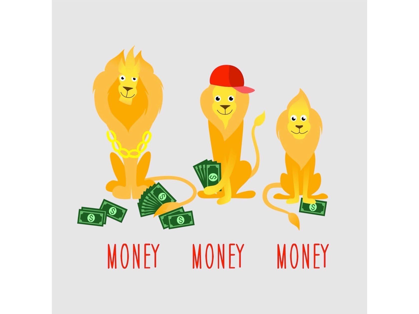 Львы считают деньги и учат математику