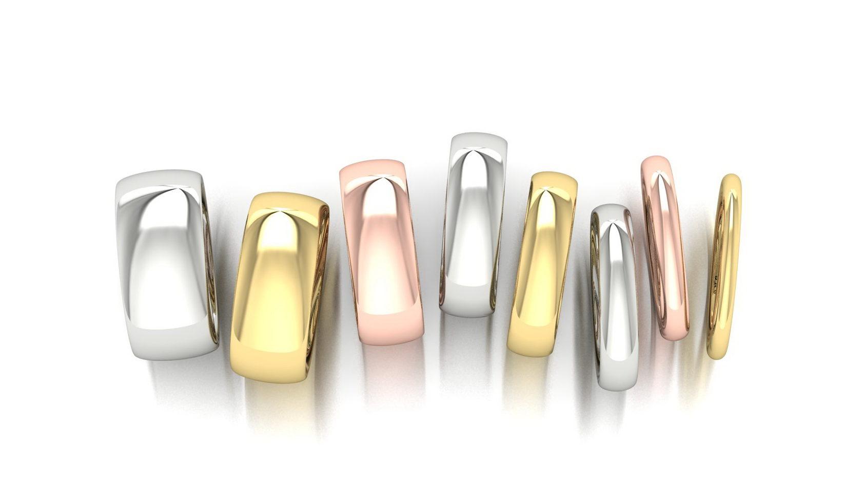 Классические обручальные кольца от широких до узких мужских и женски обручальных колец ювелирная студия Виктора Шадрина