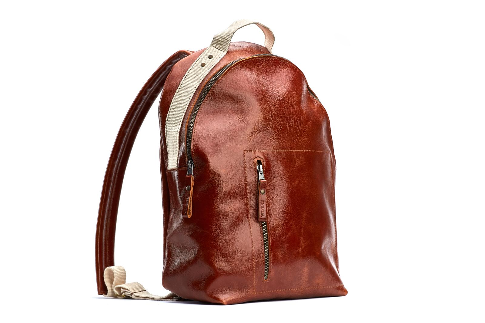 Шкіряний рюкзак YESTERDAY | Shuflia