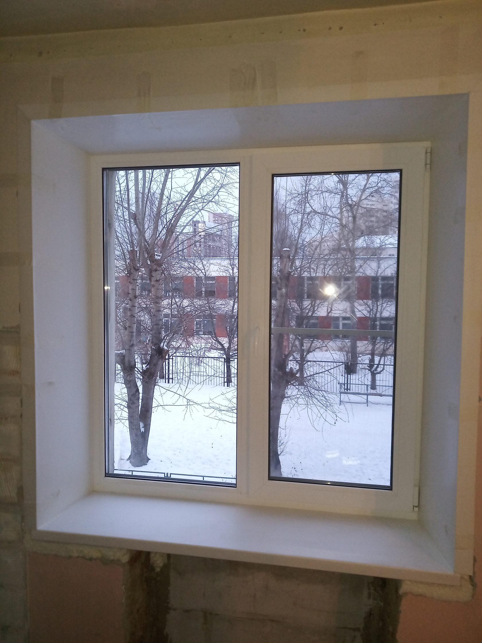 Стандартное окно под ключ в панельном доме