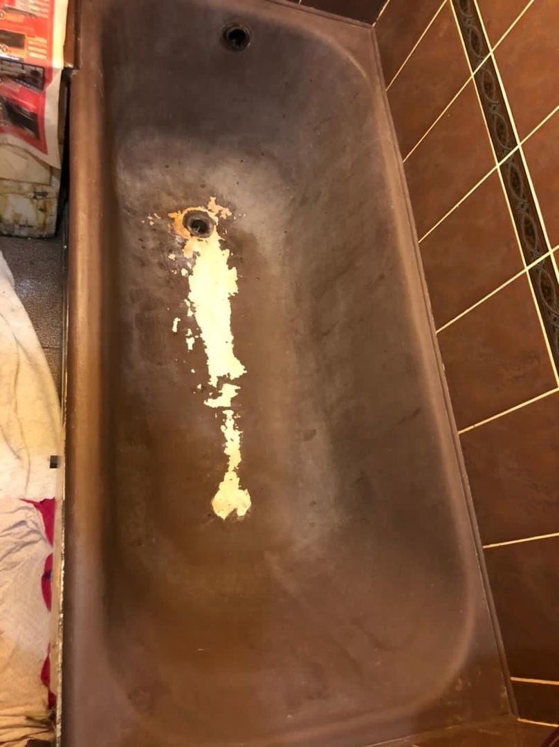 Реставрация ванн с зачисткой