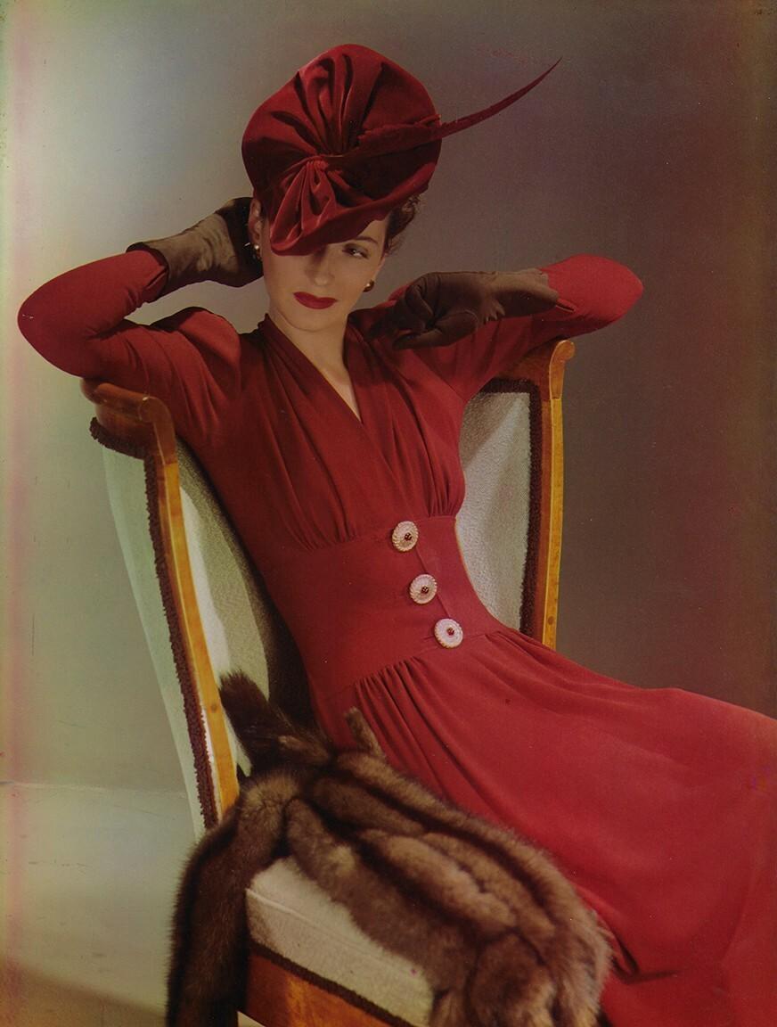 Бетти МакЛафлин, ок. 1940. Фотограф Луиза Даль-Вульф