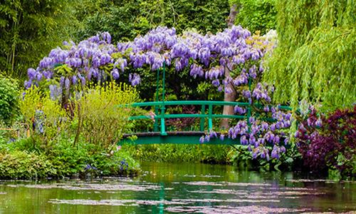 Японский мост в саду Клода Моне в Живерни