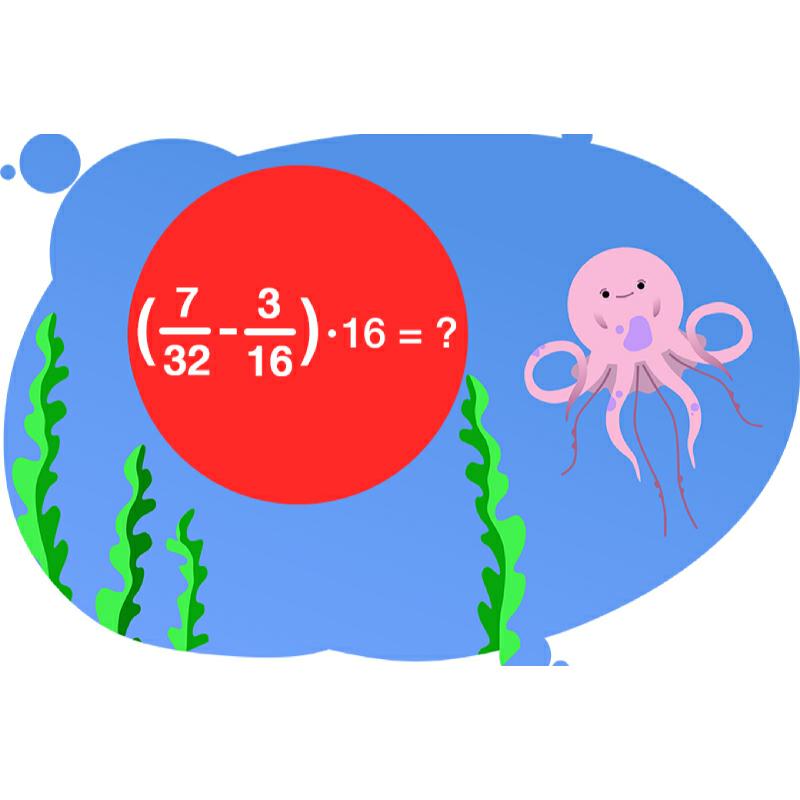 Осьминог предлагает решить задачу по свойствам умножения